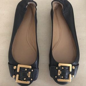 Chloe Prince Black Ballet Flat with Buckle